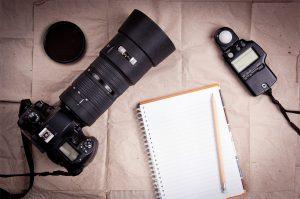 Equipamento profissional de fotografia